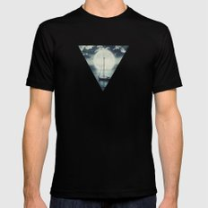 A Journey Under A Starry Night Sky Mens Fitted Tee MEDIUM Black