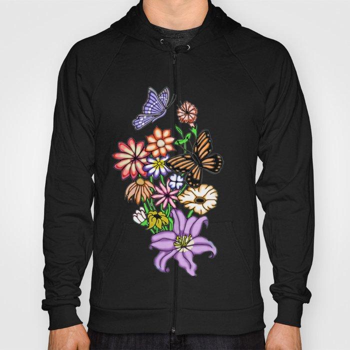 Flowers and Butterflies Hoody