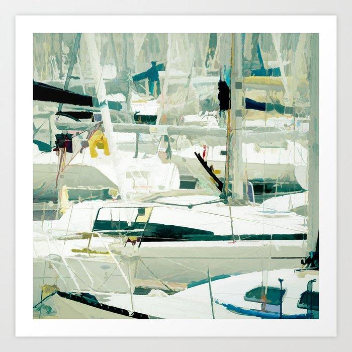Harbour in the Bretagne II Art Print