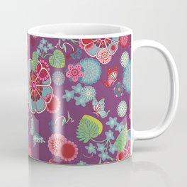 Sakura Dark Purple Coffee Mug