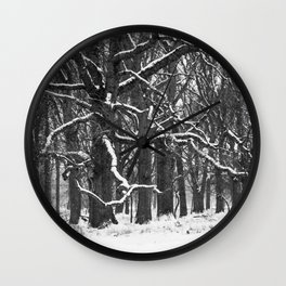 Tree in the winter (RR 272) Wall Clock