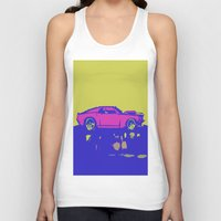 mustang Tank Tops featuring lazer mustang by Crockettsky