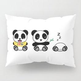 Three Little Pandas Pillow Sham