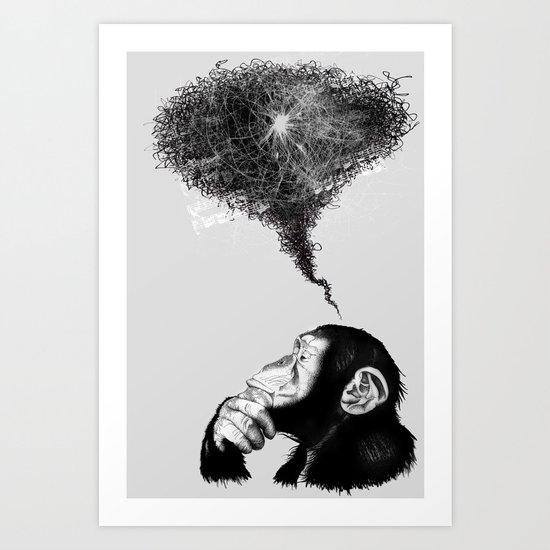 Chimpistotle Art Print