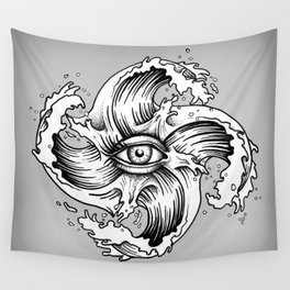 WITHIN THE EYE OF THE STORM Wall Tapestry