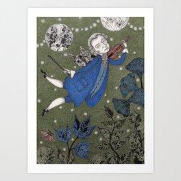 Wolfgang Amadeus Mozart--A Little Night Music Art Print