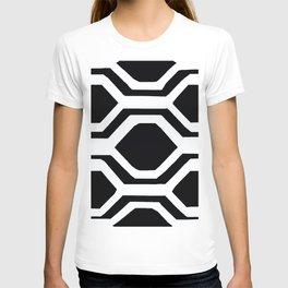 Black and White Geometric T-shirt