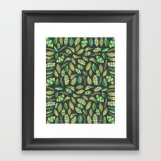 Night Tropical Jungle Framed Art Print