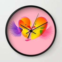 Flying with Love Wall Clock