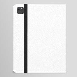 White Minimalist Solid Color Block Spring Summer iPad Folio Case