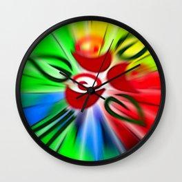 Blumengrüße. Wall Clock
