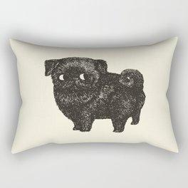 Black Pug Rectangular Pillow