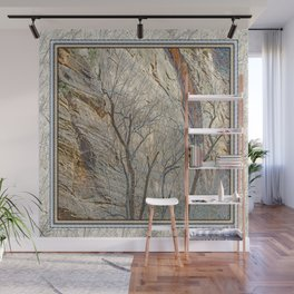 CANYON LACE IN ORANGE AND BLUE Wall Mural