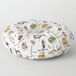 Muchies and Snacks Floor Pillow
