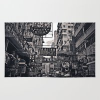china Area & Throw Rugs featuring China Town by Chad Madden