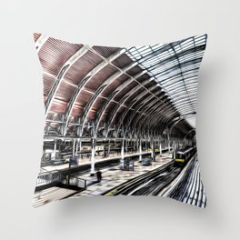 Paddington Station Art Throw Pillow
