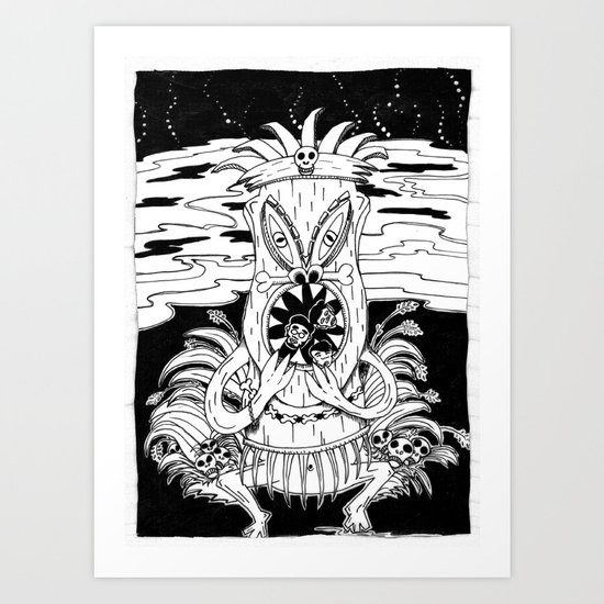 Tiki lunch Art Print