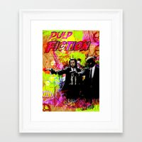 pulp fiction Framed Art Prints featuring Pulp Fiction  by Zoé Rikardo