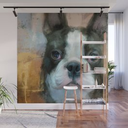 I Adore You Boston Terrier Art Wall Mural
