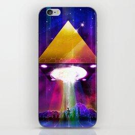 Abduction (Tetra) - Retrowave Synth UFO Illuminati iPhone Skin