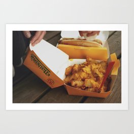 Fries and Cheese Art Print