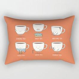 Types of tea Rectangular Pillow