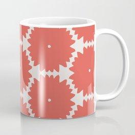 Red Stars of Christmas Pattern Geometric Abstract Coffee Mug