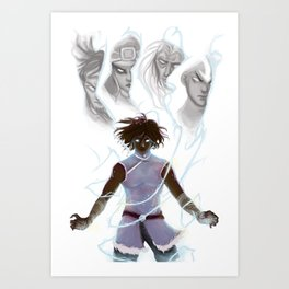 Korra and the Past Avatars - Legend of Korra Art Print