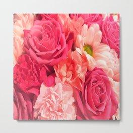 Romantic Pink Flowers Metal Print