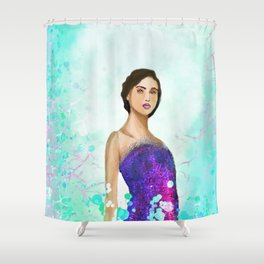 The Charming Muse Shower Curtain