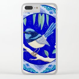 Blue Wren Beauty Clear iPhone Case