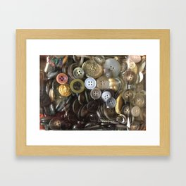 Button collection Framed Art Print