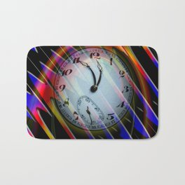 Abstract - Perfection- Time is running Bath Mat