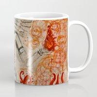 shiva Mugs featuring Shiva by Maithili Jha