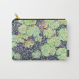 Pointilized Lily Pads Carry-All Pouch