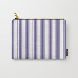 Purple, white striped pattern. Carry-All Pouch