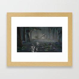 Somber Swampland Framed Art Print