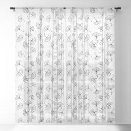 Ginkgo leaves pattern Sheer Curtain
