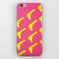 guns iPhone & iPod Skins featuring Guns Papercut by Sally Eyeballs