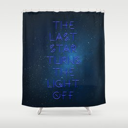 The last Star Shower Curtain