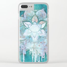 Turq Mandala Clear iPhone Case