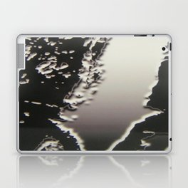 Black & Silver Grey Photograph Liquid Metal #2 Laptop & iPad Skin