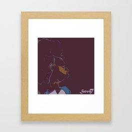 Brown Framed Art Print
