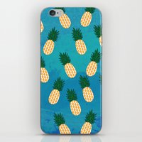 pineapples iPhone & iPod Skins featuring Pineapples  by Ashley Hillman