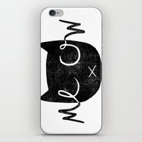 meow iPhone & iPod Skins featuring Meow by Laura O'Connor