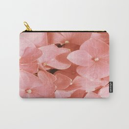 Thin Pink Hydrangea Yellow Mellow flower pattern Carry-All Pouch