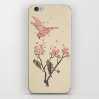 fantasy iPhone & iPod Skins featuring Blossom Bird  by Terry Fan