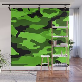 Green Camouflage Wall Mural