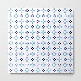 new polka dot 107 dark and light blue Metal Print
