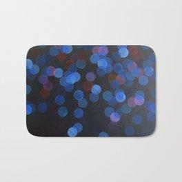 No. 45 - Print of Deep Blue Bokeh Inspired Modern Abstract Painting  Bath Mat